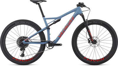 2019 Specialized Epic Expert Carbon Gloss Storm Grey-Rocket Red