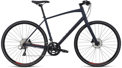 2019 Specialized Sirrus Sport Cast Blue-Rocket Red-Black Reflective