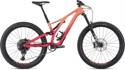 2019 Specialized Women's Stumpjumper Comp Carbon 27.5 12-speed Satin-Acid Lava-Acid Pink-Black