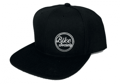 Bike Society Cap Black with Embroidered Round Logo