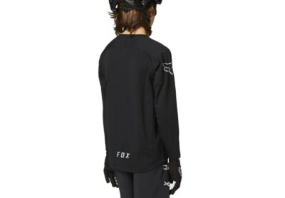 Fox Youth Defend Long Sleeve Jersey - Black